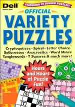 Dell Official Variety Puzzles Magazine Cover